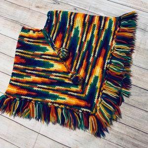 Other - Adorable Handmade Rainbow Poncho